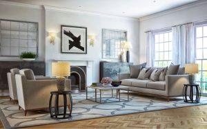 how interior decorator determine the right rug