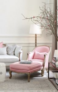 chaise is pretty in pink