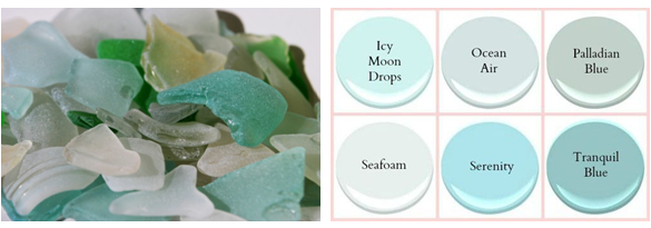 sea glass and BM paint colours