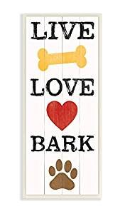 live love bark wall plaque