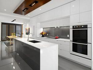 glossy white kitchen image